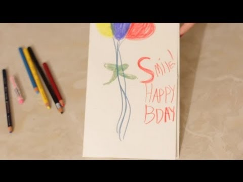 A Birthday Card Idea For A Big Poster Board Cards Crafts Youtube