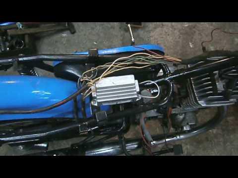 минск 125  электропроводка и запуск двс