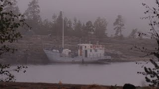 Ладожские шхеры на рыболовецком  корабле НОРД