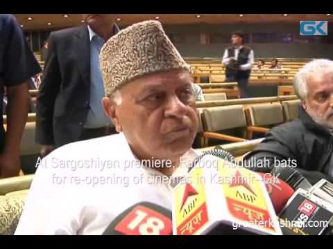At Sargoshiyan premiere, Farooq Abdullah bats for re-opening of cinemas in Kashmir