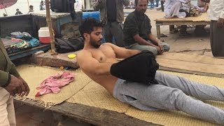 Complete Street Indian Body massage at Banks of the Ganges Part-1| 4K