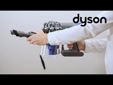 Dyson V6 cord-free vacuums - Emptying and cleaning the clear bin (IN)