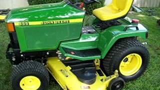 John Deere 455 diesel mower walk around