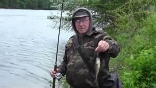 Ловля на микроколебалки. Рибалка весна окунь спінінг. 1 Ч.
