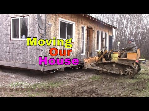 Today We Moved Our Off Grid Home With A Little 310 Case Bulldozer