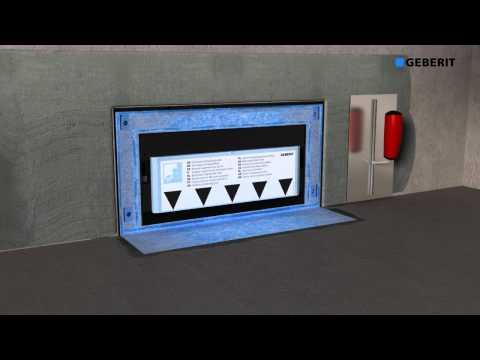 geberit shower board installation doovi. Black Bedroom Furniture Sets. Home Design Ideas