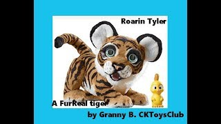 Roarin Tyler, the Playful Tiger. FurReal toy made by Hasbro. Review by Granny B.
