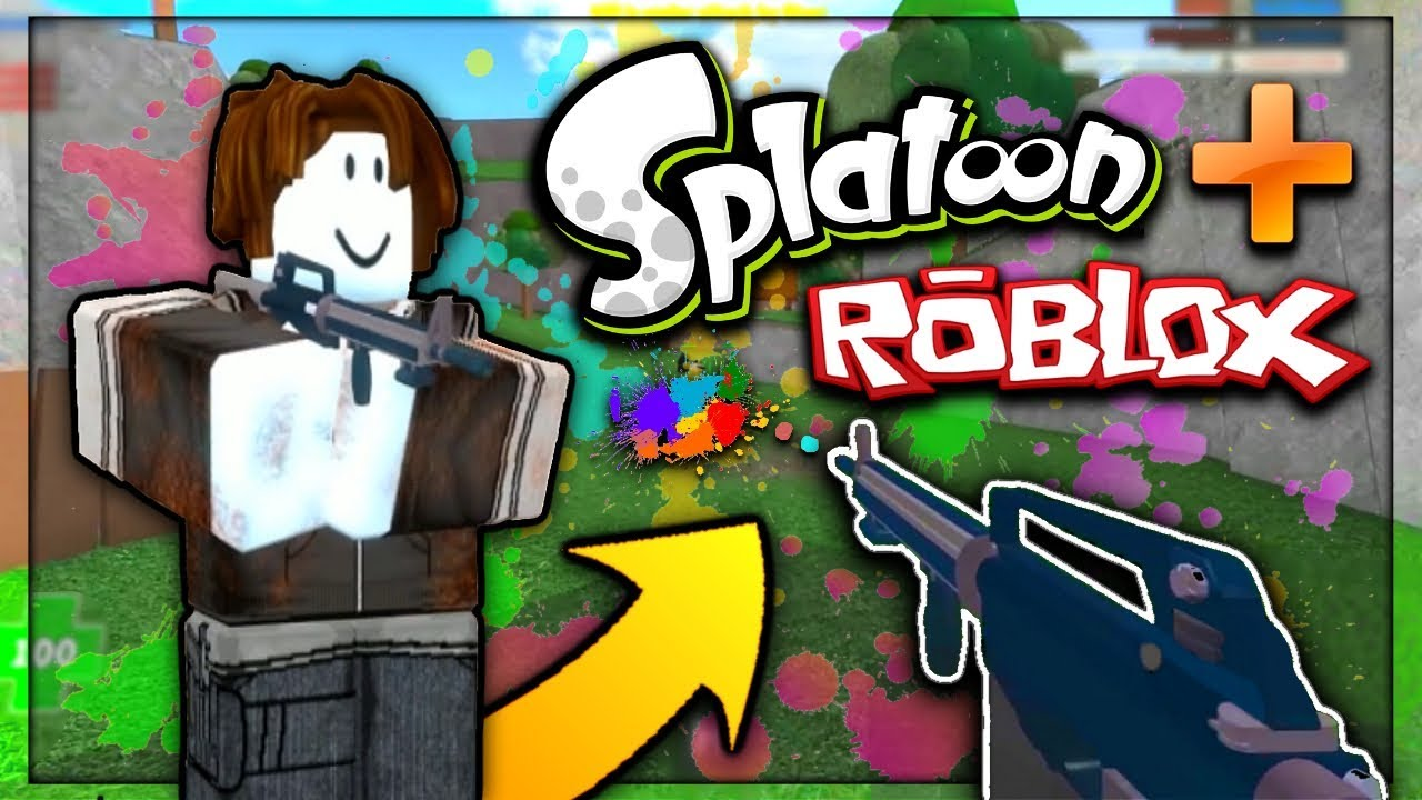 Splatoon Roblox Mad Paintball 2 Gameplay Youtube