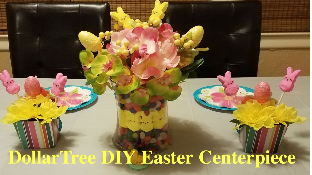 dollar tree diy easter centerpiece youtube - Easter Centerpieces