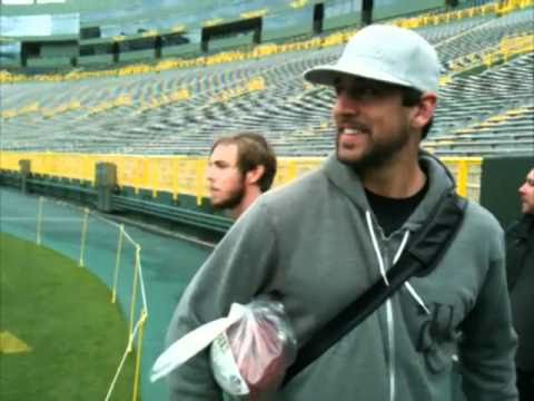 Anberlin Tours Lambeau Field With Aaron Rodgers