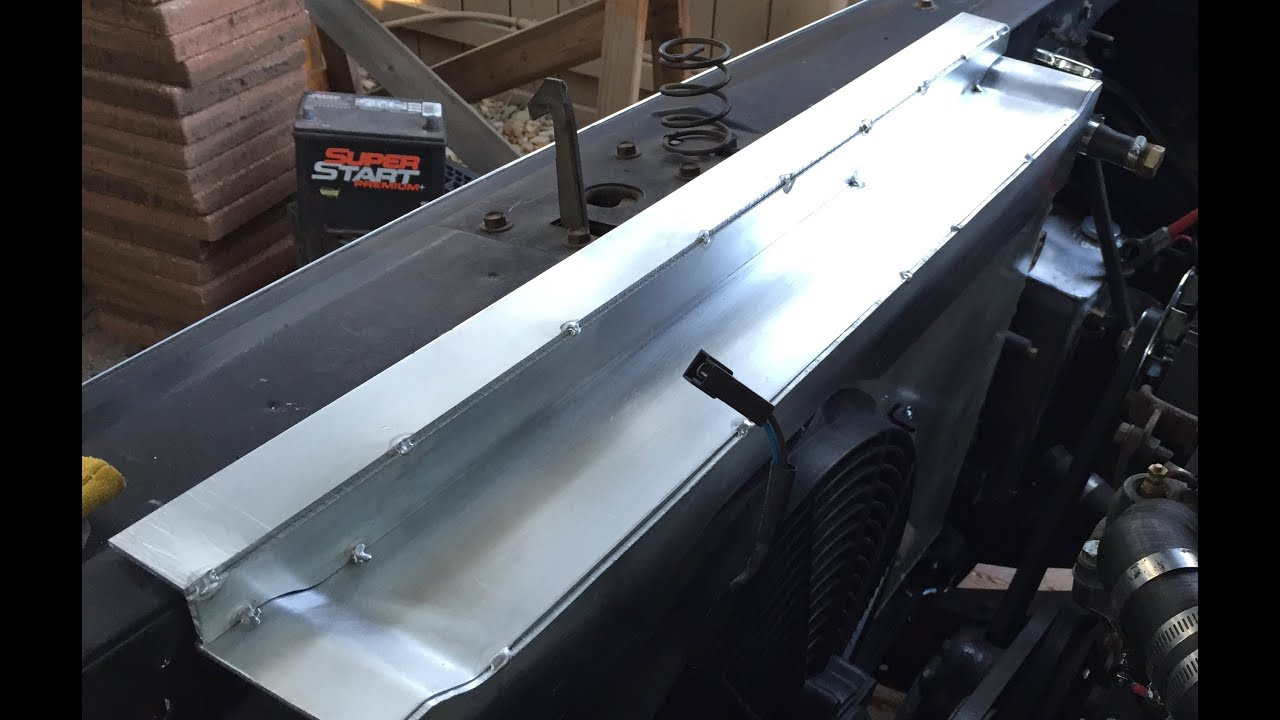 medium resolution of part 2 chevy c10 radiator support build aluminum 73 87 c10 upper radiator support bracket