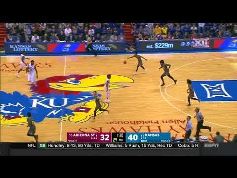 Kansas vs Arizona State Men's Basketball Highlights