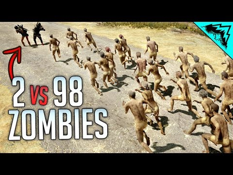 DEADLY DUO VS 98 ZOMBIES - Insane PlayerUnknown's Battlegrounds (PUBG)