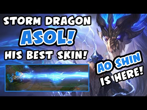 AO SHIN IS HERE?! NEW STORM DRAGON AURELION SOL SKIN! - VICKSY | League of Legends