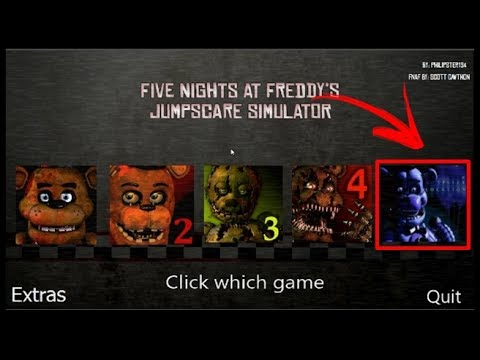 Five Nights at Freddy's 1-5 Jumpscare Simulator (Fan-game Fnaf) Sister location