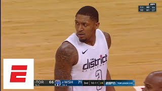 Bradley Beal angry after taking flagrant foul to head from Kyle Lowry   ESPN