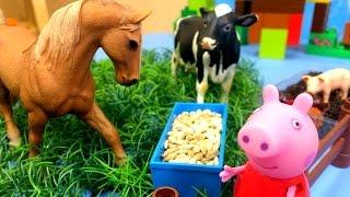 Школа три кита! Кормим животных на ферме! Развивающее видео с игрушками!(Отправляемся на ферму вместе со свинкой Пеппой! Посмотри, как много там разных животных! Диана, предлагает..., 2015-07-26T05:32:15.000Z)
