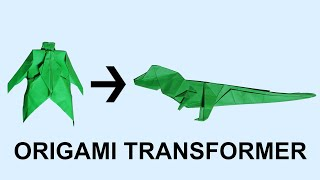 Origami Transformer #1: T-Rex Dinosaur Tranformer Tutorial (Henry Pham)