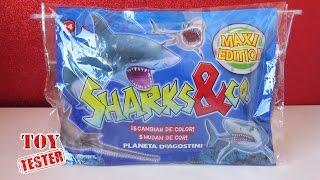 Unboxing Sharks & Co Tiburón de juguete que cambia de color | Vídeos de dinosaurios para niños