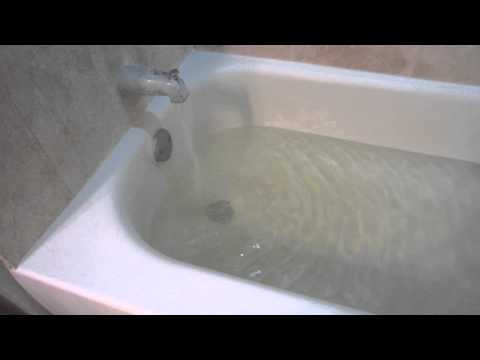 My Bathtub Filling Up With Water Youtube