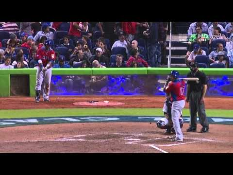 WORLD BASEBALL CLASSIC 2013 3/14/13 DOMINICAN REPUBLIC VS UNITED  STATES