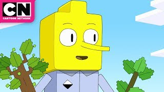 Adventure Time | Lemongrab Tries To Plant A Tree In Minecraft | Cartoon Network
