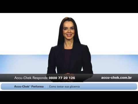 Como fazer o teste de glicemica no seu monitor Accu-Chek Performa ®