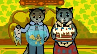 Песенки для детей - Три котенка - В мягкие тапки прыгнули лапки ( День Рождения)