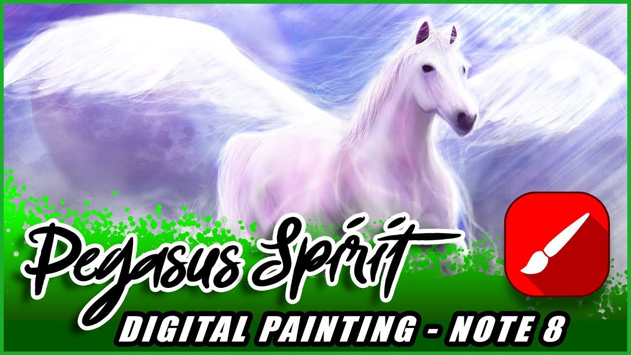 Pegasus painting using Infinite Painter android app with Note 8