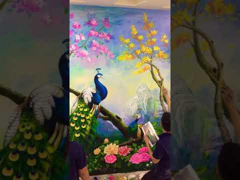 báo giá vẽ tranh tường 3d đẹp giá rẻ nhất 80k/m2 - Vẽ tranh tường 3d đẹp phòng khách- vẽ tranh tường