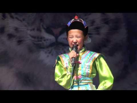Snow Leopard Day Mongolian Girl