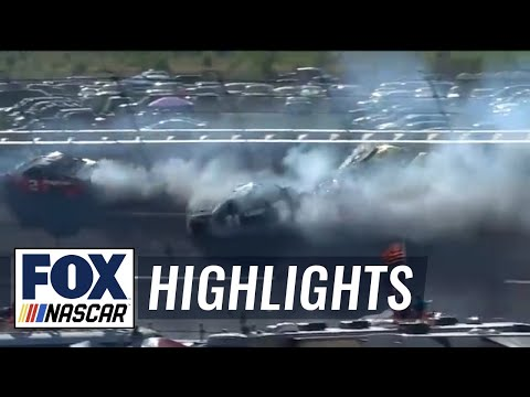 Jimmie Johnson triggers the 'Big One' | 2018 TALLADEGA | FOX NASCAR