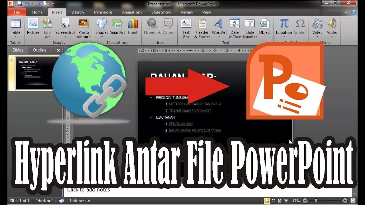 Tutorial Cara Membuat Hyperlink Antar File Powerpoint 2010 Simple News Video Youtube
