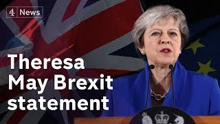 Theresa May statement on delaying Brexit vote