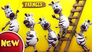 Zebra Finger Family | Nursery Rhymes | Kids Songs | Children Rhymes by Farmees S02E155