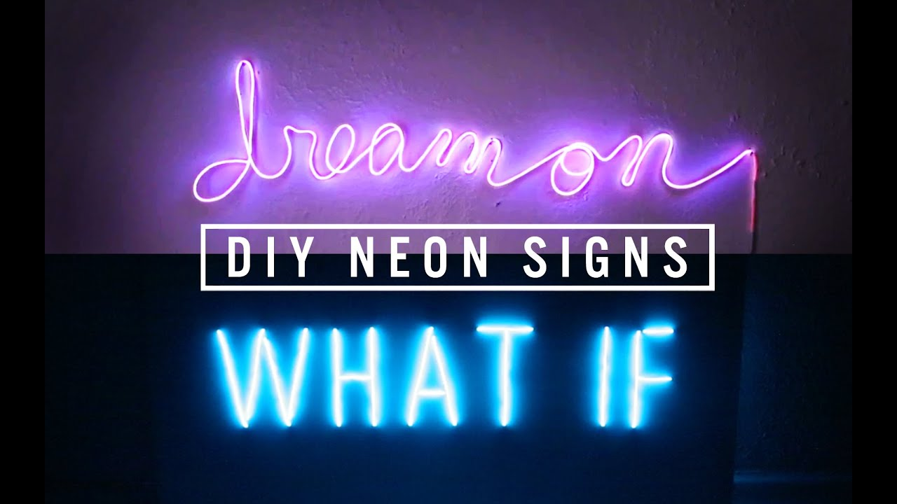 DIY NEON SIGN DECOR | THE SORRY GIRLS - YouTube