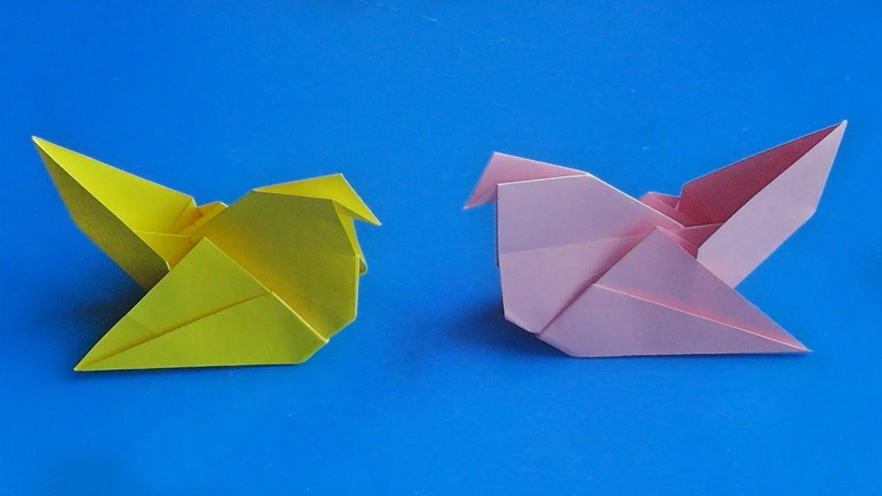 Оригами птица Как сделать птицу из бумаги Бумажная птица ...