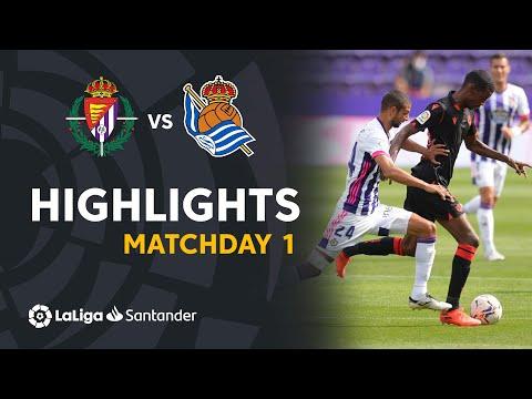Highlights Real Valladolid vs Real Sociedad (1-1)