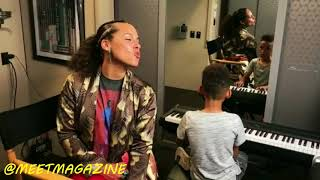Alicia Keys sings better than Whitney Houston as her son plays the piano better than Mozart!