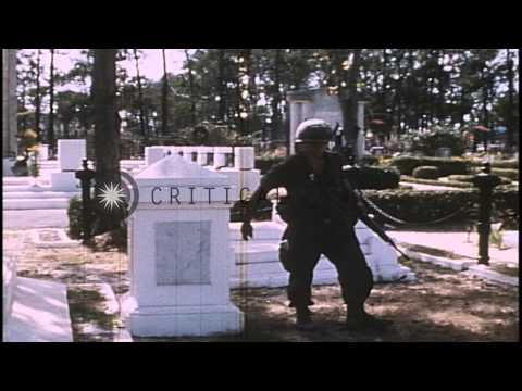 United States 1st Infantry Division and 25th Infantry Division soldiers search ce...HD Stock Footage