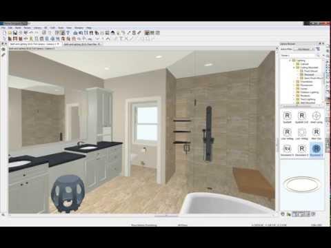 Home Designer 2015 - Custom Bath and Lighting Design