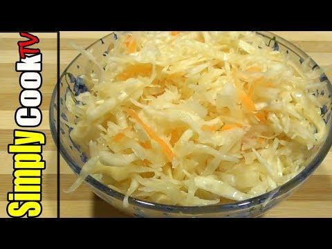 Супер быстрый рецепт Квашеной Капусты| Простой рецепт от Simply Cook TV