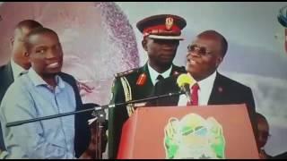 Rais Magufuli alivyowapatanisha Ruge na Makonda leo akiwa Tanga