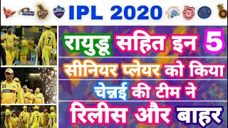 IPL 2020 - Final Confirmed List Of 5 CSK Released Players | IPL Auction | MY Cricket Production