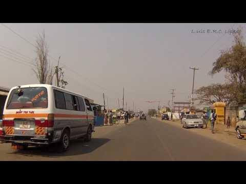 Dash Cam in a Taxi - via Kuku Market Lusaka Zambia