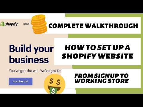 HOW TO MAKE A SHOPIFY STORE 2019 - COMPLETE SETTING UP SHOPIFY WALKTHROUGH //Handmade Bosses