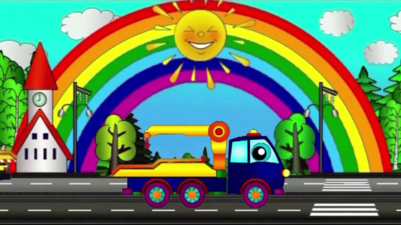 Wir malen einen Abschleppwagen - Cartoon für Kinder - YouTube