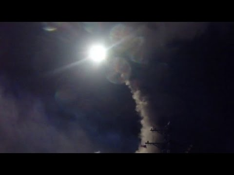 First videos of military strike in Syria