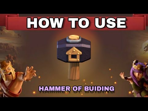 CLASH OF CLANS : How To Use Magical Item ( Hammer Of Building ) In Clan War League