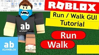 How To Make A Run / Walk GUI On Roblox - Basic Walkspeed Tutorial